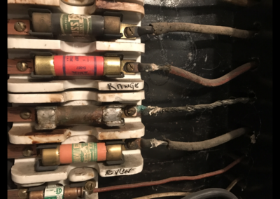 Soldered bar in place of a fuse - Violation